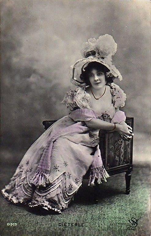 Carte postale ancienne Amélie Diéterle (1871-1941) carte postale (A05)