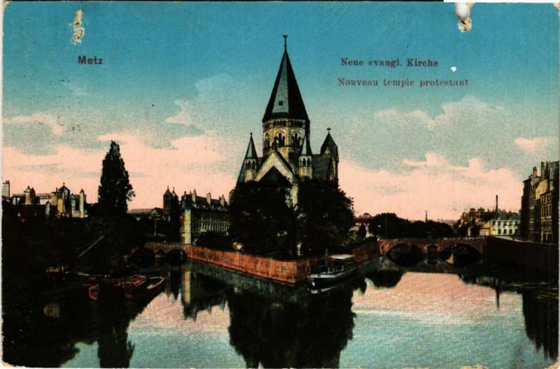 Carte postale ancienne Metz Neue evangl. Kirche - Nouveau Temple protestant à Metz