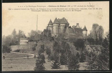 Carte postale ancienne Carte postale du château de Paluel au 19ème siècle à