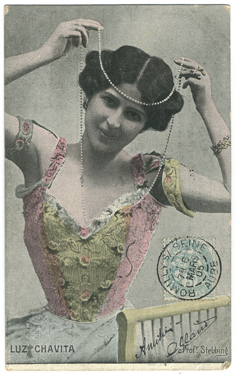 Carte postale ancienne CHAVITA, Luz GM. Photo Stebbing à