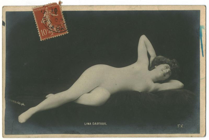 Carte postale ancienne DARTEUIL, Lina FK. Photo Stebbing à