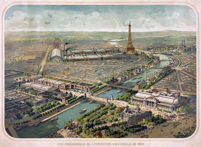 Carte postale ancienne Flickr - …trialsanderrors - Panoramic view of the Exposition Universelle, Paris, 1900 à Paris 6e
