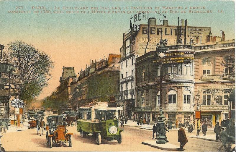 Carte postale ancienne Pavillon Hanovre Italiens à Paris 9e