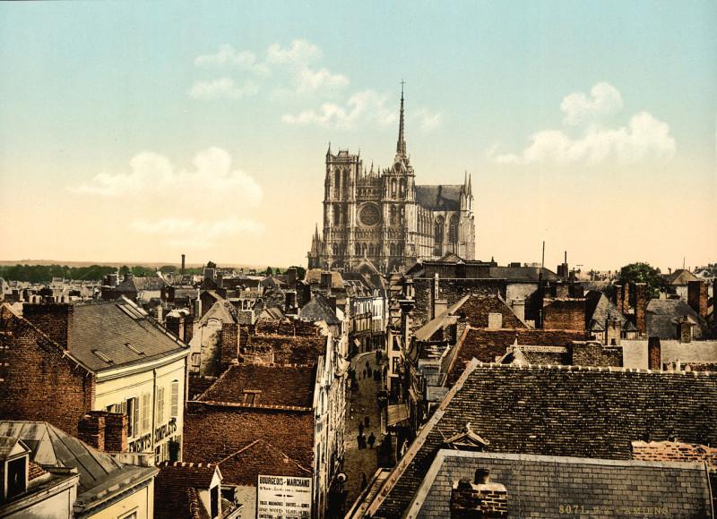 Carte postale ancienne Amiens, France, ca. 1895 à Amiens