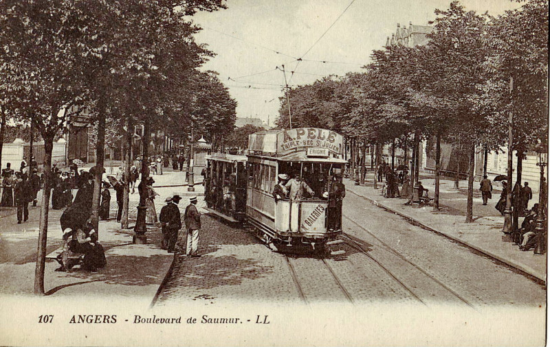 Carte postale ancienne Ll 107 - Angers - Boulevard de Saumur à Angers