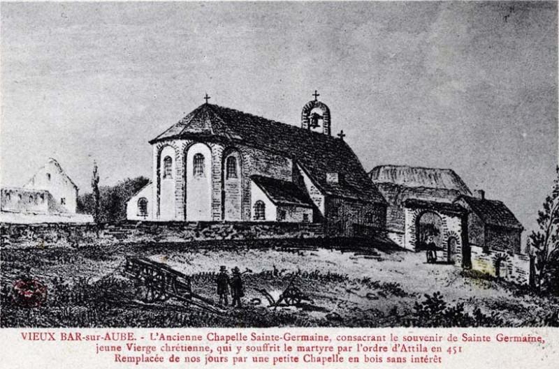 Carte postale ancienne Bar-sur-Aube chapelle ste germaine à Bar-sur-Aube