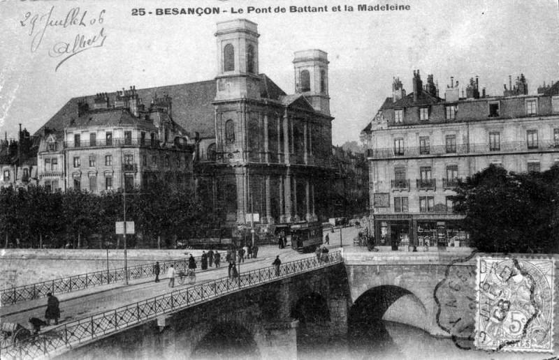 Carte postale ancienne 25056 - Besançon-pont-battant à Besançon