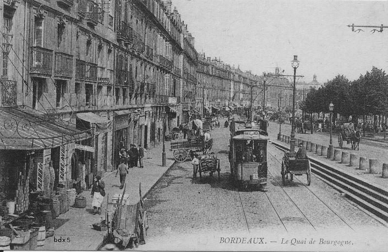 Carte postale ancienne Bordeaux-Le Quai de Bourgogne-bdx 5 à Bordeaux