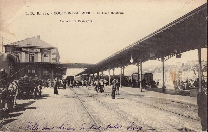 Carte postale ancienne Ldb 122 - Boulogne-Sur-Mer - La Gare Maritime à Saint-Martin-Boulogne