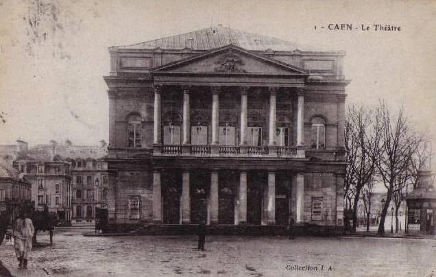 Carte postale ancienne Theatre caen avant à Caen
