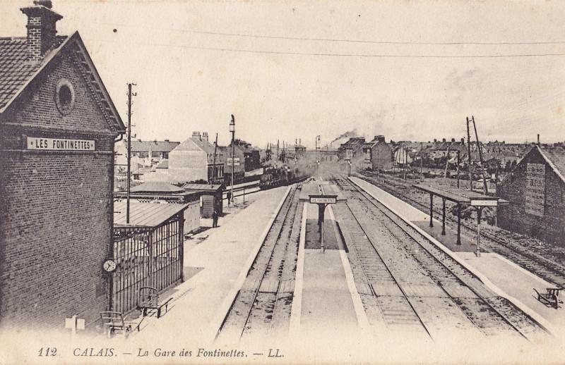 Carte postale ancienne Ll 112 - Calais - La Gare des Fontinettes à Calais