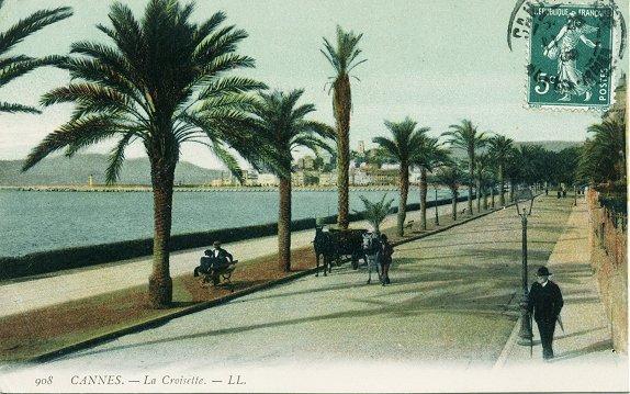 Carte postale ancienne Cannes croisette à Cannes
