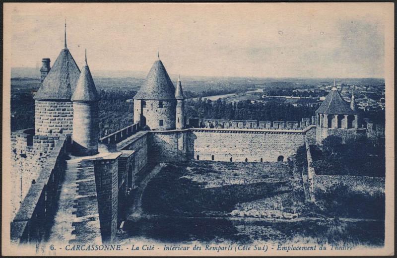 Carte postale ancienne 6 Carcassonne - La Cité à Carcassonne