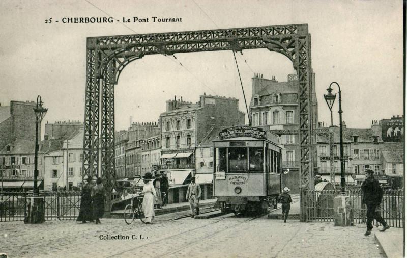 Carte postale ancienne Cl 25 - Cherbourg - Le Pont Tournant à Cherbourg-en-Cotentin