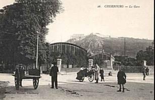 Carte postale ancienne Gare de Cherbourg1 à Cherbourg-en-Cotentin