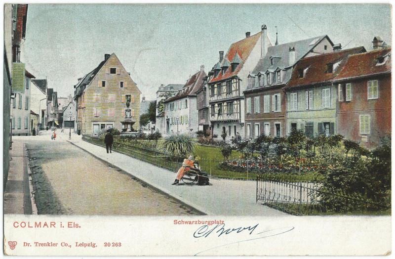 Carte postale ancienne 19050212 colmar schwarzburgplatz à Colmar