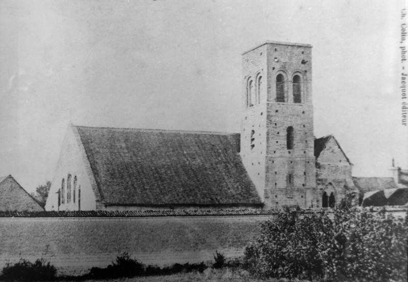 Carte postale ancienne Carte de l'église de Courcy à Courcy