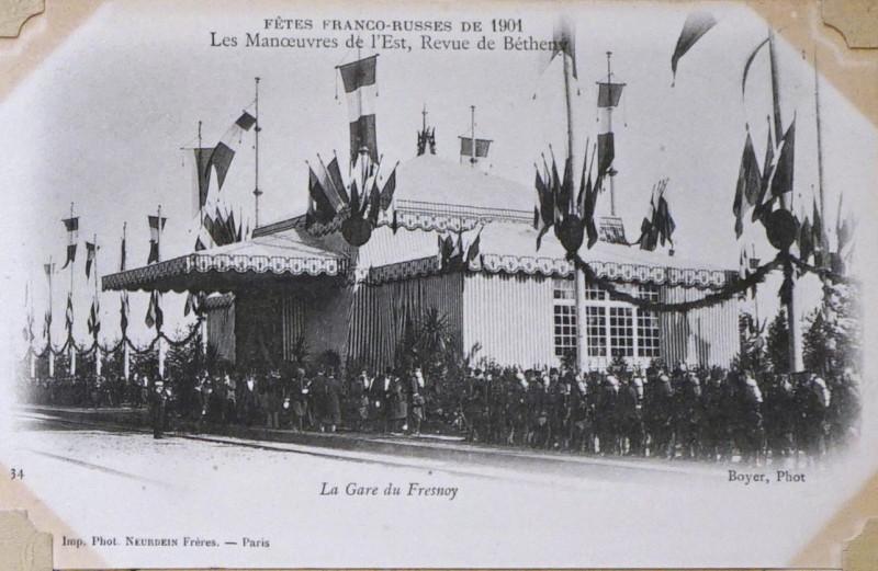 Carte postale ancienne Cartes postales album 4 1008409 (gare fresnoy) à Courcy