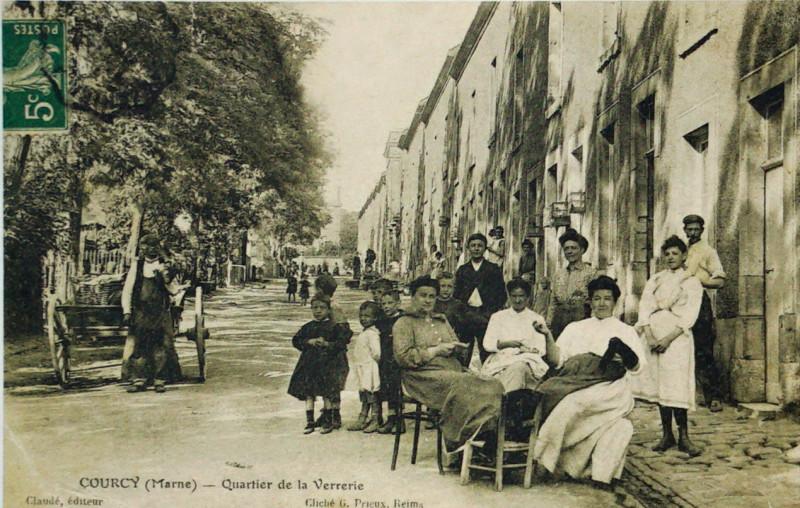 Carte postale ancienne Courcy la verrerie 08403 à Courcy