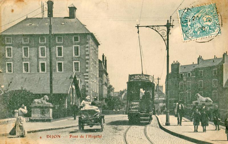 Carte postale ancienne Bd 4 - Dijon - Pont de l'Hopital à Dijon