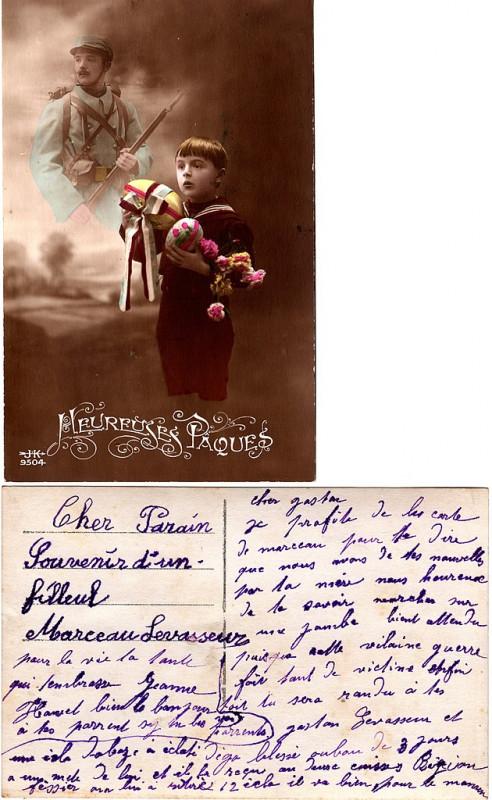 Carte postale ancienne Carte postale - Dunkerque - Heureuses Pâques 02 à Dunkerque