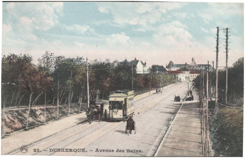 Carte postale ancienne Postcard- Dunkerque - Avenue des Bains, sent May 1915 (6315139411) à Dunkerque