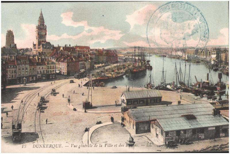 Carte postale ancienne Postcard- Dunkerque - Vue generale de la Ville et des Bassins  à Dunkerque