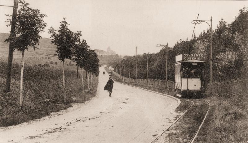 Carte postale ancienne Tramway d'Eu-Le Tréport 7 à Eu