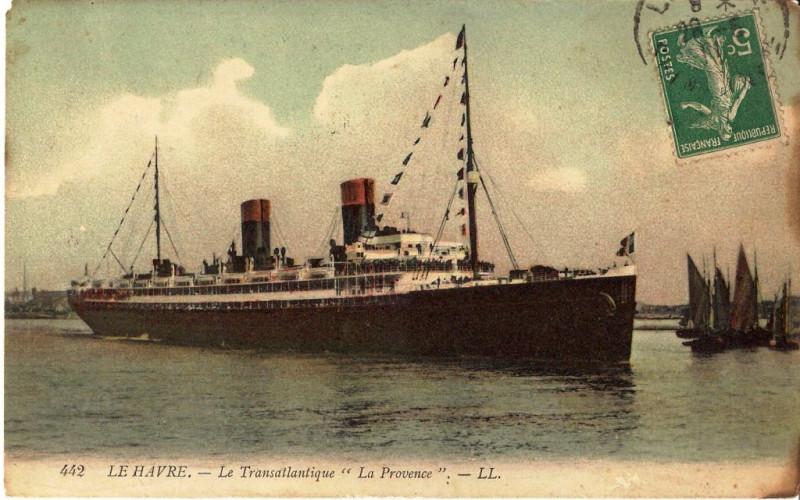 Carte postale ancienne 442 Le Havre Le Transatlantique La Provence LL1911 vers au Havre
