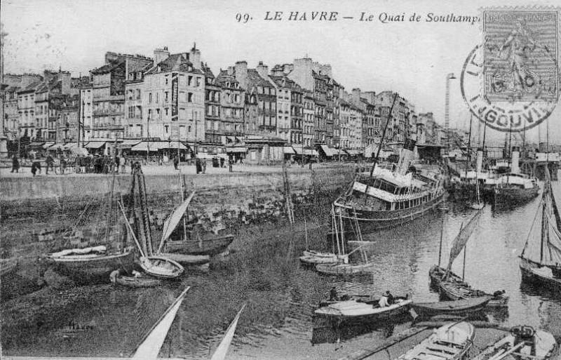 Carte postale ancienne 76-Le Havre-Quai de Southampton-années 20 au Havre