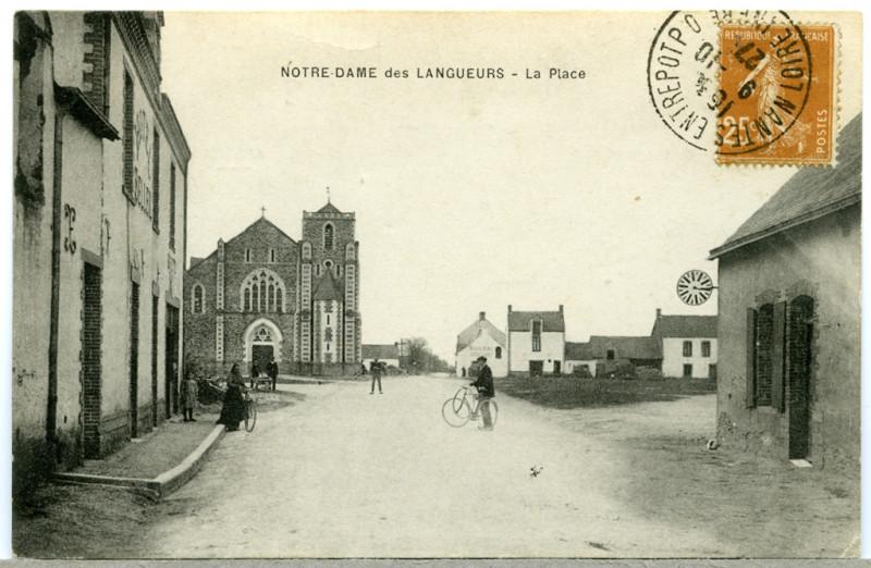 Carte postale ancienne Ndl-grande-rue-5 à Joué-sur-Erdre