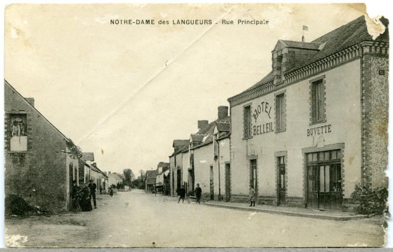 Carte postale ancienne Ndl-grande-rue-6 à Joué-sur-Erdre