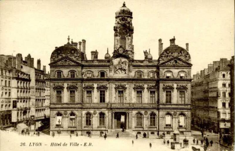 Carte postale ancienne 26 Lyon, Hotel De Ville (Townhall) (NBY 10068) à Lyon