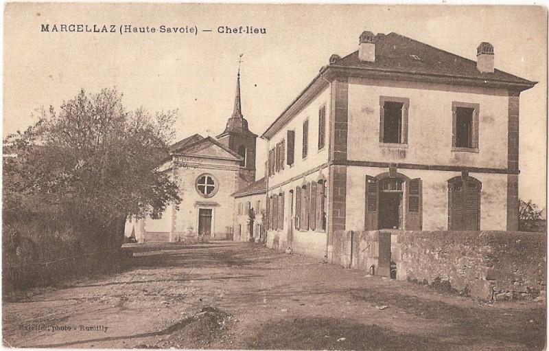 Carte postale ancienne Marcellaz (Haute-Savoie) - Chef-Lieu à Marcellaz-Albanais