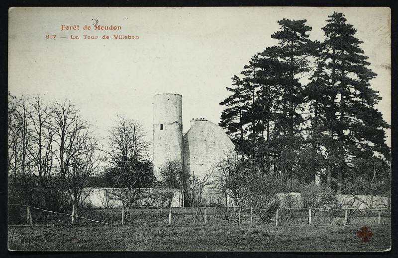 Carte postale ancienne Carte postale - Meudon - Forêt de Meudon - La Tour de Villebon à Meudon