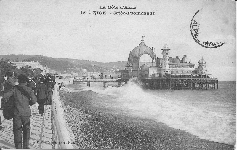 Carte postale ancienne Nice-Jetée Promenade-Gilleta 15 à Nice