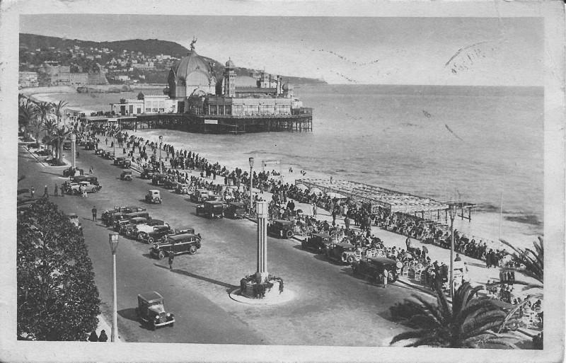 Carte postale ancienne Nice-Promenade des Anglais-Gilleta 177 à Nice