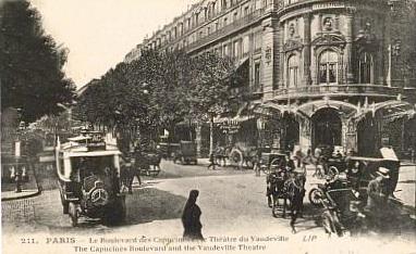 Carte postale ancienne Boulevard des Capucines 1910 à Paris 2e