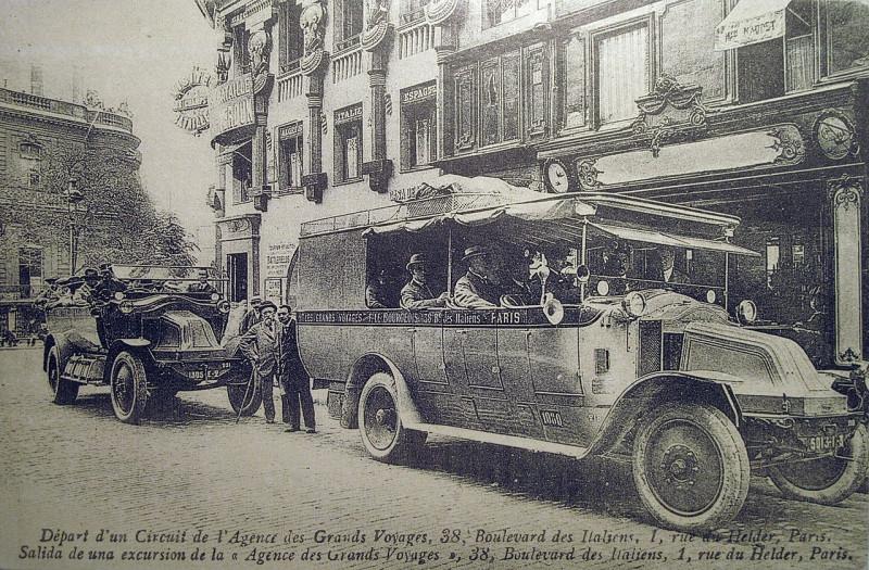Carte postale ancienne Italiens Helder 1920 à Paris 9e
