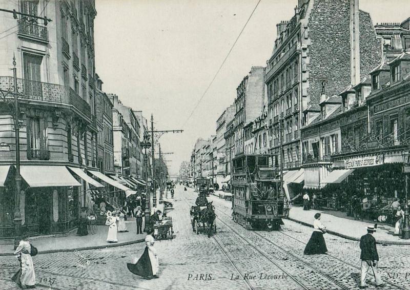 Carte postale ancienne Nd 1027 - Paris - La rue Lecourbe à Paris 15e