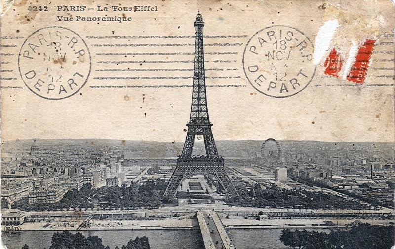 Carte postale ancienne La Tour Eiffel - Vue Panoramique à Paris 16e