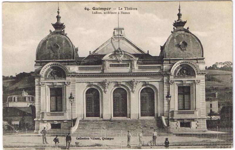 Carte postale ancienne 1904 Théatre municipal de Quimper à Quimper