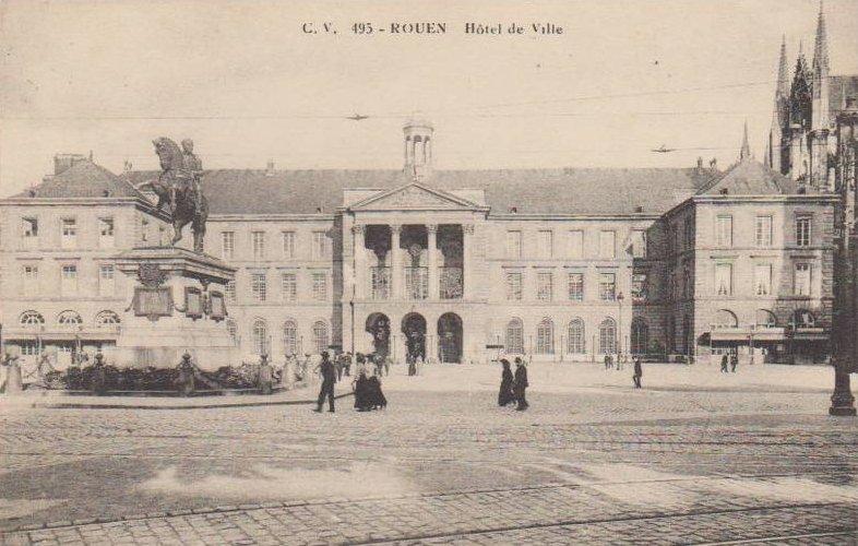 Carte postale ancienne Hôtel de Ville à Rouen
