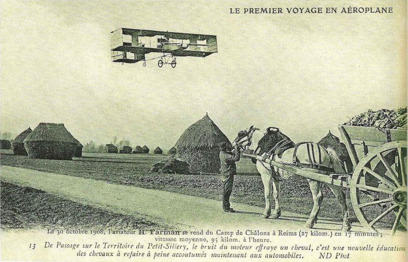 Carte postale ancienne 13 après le départ de chalons le Petit-Sillery
