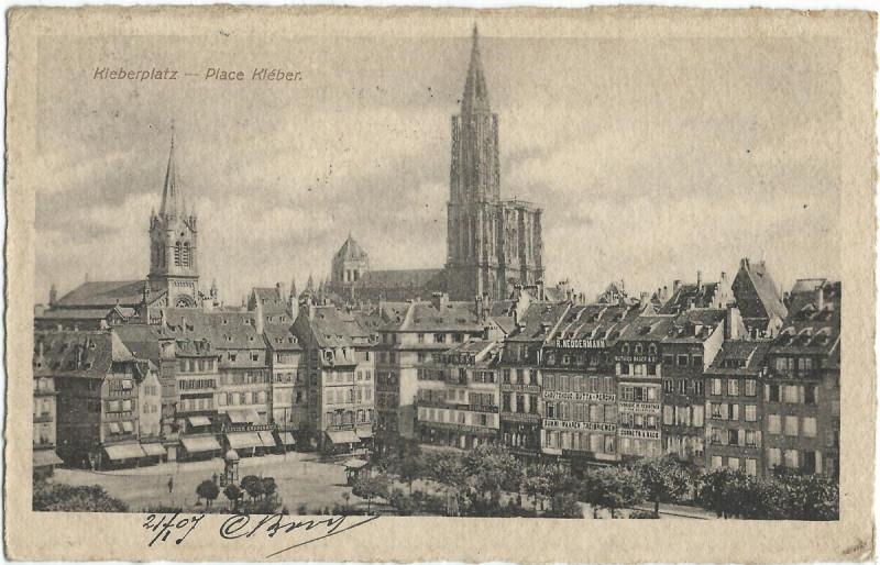 Carte postale ancienne 19070121 strassburg kleberplatz à Strasbourg