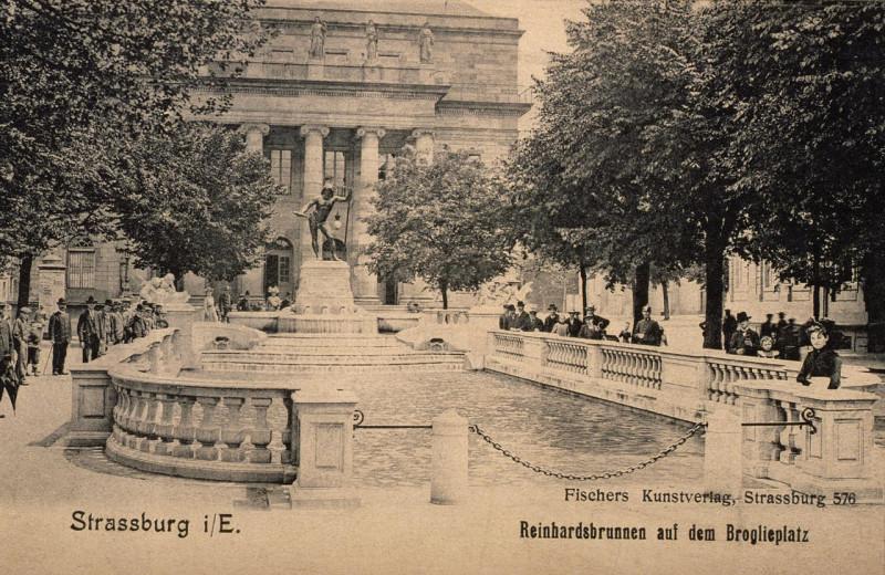 Carte postale ancienne Reinhardsbrunnen auf dem Broglieplatz à