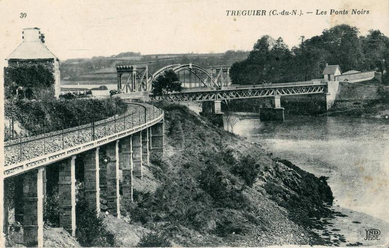 Carte postale ancienne Tréguier - Les Ponts Noirs à Tréguier