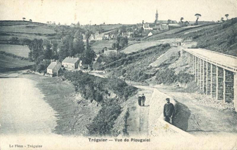 Carte postale ancienne Tréguier - Vue de Plouguiel - Le Flem à Tréguier
