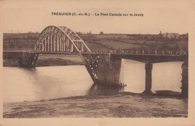 Carte postale ancienne Tréguier(CdN) - Le pont Canada sur le Jaudy - Combier à Tréguier