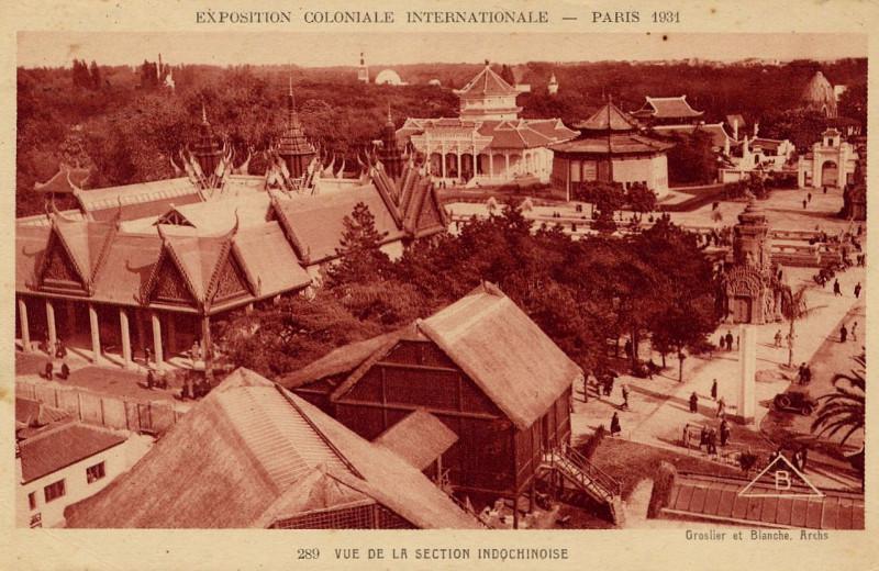 Carte postale ancienne Expo 1931 Diorama à